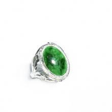 Nhẫn bạc 925 mặt đá Cẩm Thạch Sơn Thủy R-JAD01 Vietgemstones