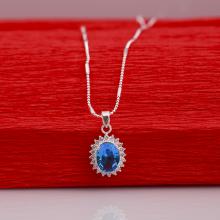 Opal - Dây chuyền bạc kèm mặt đá Ross mặt trời_T07