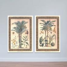 Bộ 2 tranh treo tường cây trái - tranh trang trí hoa lá W3435