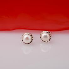 Opal - hoa tai bạc đính Ngọc trai cổ điển 2 màu lựa chọn _ T07