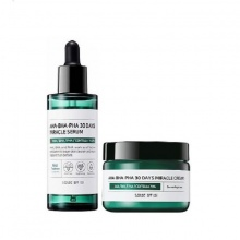 Combo serum + kem trị mụn Some By Mi AHA-BHA-PHA 30 Days Miracle Cream Serum