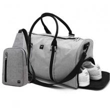 Combo túi du lịch Laza TX367 và túi đeo TX361 - xám