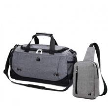 Combo túi du lịch TX371 và túi đeo chéo TX361 - chính hãng phân phối - xám