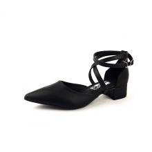 Sandal bít mũi đen mịn Dolly & Polly