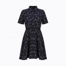 Đầm xòe tay lỡ cổ bẻ Hàn Quốc Orange Factory EQOPL348-WSN