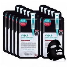 Hộp 10 mặt nạ than hoạt tính giúp mờ thâm sạm, dưỡng trắng da Mediheal W.H.P White Hydrating Black Mask