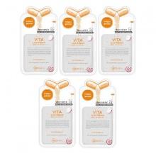 Bộ 5 mặt nạ Mediheal dưỡng sáng da Vita Lightbeam Essential Mask 25ml