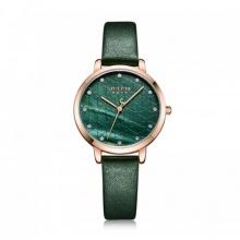 Đồng hồ nữ ja-1178d julius hàn quốc dây da xanh