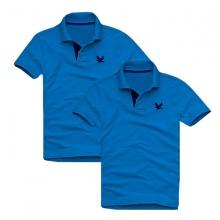 Áo thun nam cổ bẻ vải cá sấu cao cấp, combo 2 áo logo thêu rất sắc xảo (2 áo xanh dương)