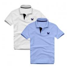 Áo thun nam cổ bẻ vải cá sấu cao cấp, combo 2 áo logo thêu rất sắc xảo (trắng, xanh môn)