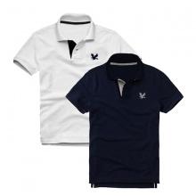 Áo thun nam cổ bẻ vải cá sấu cao cấp, combo 2 áo logo thêu rất sắc xảo (trắng, xanh đen)