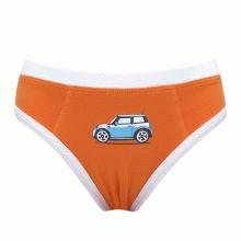 Combo 3 quần brief bé trai ô tô màu cam iBasic PANB003