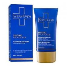 Lotion làm sạch và tẩy trang dành cho mặt và mắt DermEden Complete Cleanser (Face & Eye/150ml) 2in1 Milk-Lotion
