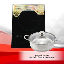 Bếp từ cao cấp Elmich  SM-7952 - Tặng nồi lẩu Inox 3 lớp 5552KMB trị giá 600k