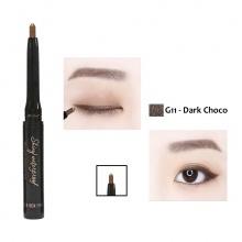 Chì kẻ mắt không trôi dạng gel Shiny Mini Hàn Quốc Màu G11 (Dark Choco)