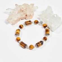 Vòng tay phong thủy đá mắt hổ kim tiền 8mm mệnh thổ, kim - Ngọc Quý Gemstones