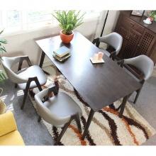 Bộ bàn ăn 4 ghế Compass màu walnut - Cozino