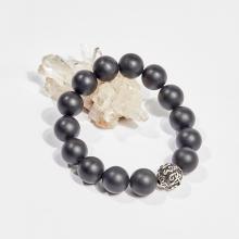 Vòng tay phong thủy đá obsidian charm lục giác 12mm mệnh thủy, mộc - Ngọc Quý Gemstones