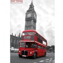 Tranh dán tường xe buýt London TDT16 (kích thước:100x150cm)