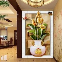 Tranh dán tường bình hoa TDT15 (kích thước:100x150cm)