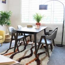 Bộ bàn ăn 6 ghế Compass màu walnut - Cozino