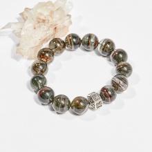 Vòng tay phong thủy đá thạch anh ưu linh xanh rêu 13mm mệnh hỏa, mộc - Ngọc Quý Gemstones