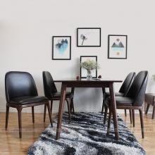 Bộ bàn ăn 4 ghế Grace không tay 1m4 màu walnut - Cozino