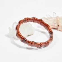 Vòng tay phong thủy đốt trúc đá chalcedony nâu đỏ 16x12mm mệnh hỏa, thổ - Ngọc Quý Gemstones