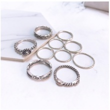 Set 10 nhẫn midi ring - Tatiana - Nh2225