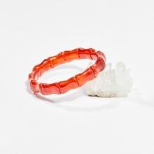 Vòng tay phong thủy đốt trúc đá mã não đỏ 16x12mm mệnh hỏa, thổ - Ngọc Quý Gemstones