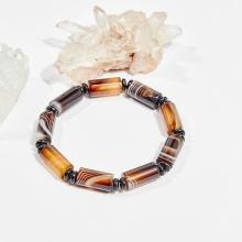 Vòng tay phong thủy đá mã não đen đốt tròn 16x8mm mệnh thủy, mộc - Ngọc Quý Gemstones