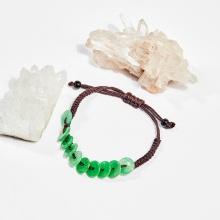 Vòng tay thắt dây đồng tiền cẩm thạch mệnh hỏa, mộc - Ngọc Quý Gemstones