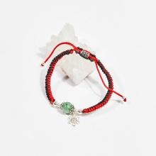 Vòng tay thắt dây đá cẩm thạch mệnh hỏa, mộc - Ngọc Quý Gemstones
