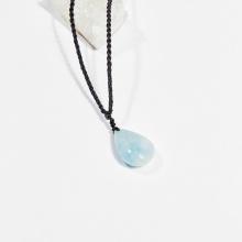 Dây chuyền phong thủy đá aquamarine giọt nước 2.5cm mệnh thủy, mộc - Ngọc Quý Gemstones
