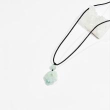 Dây chuyền phong thủy đá cẩm thạch phỉ thúy nhỏ 2.5cm mệnh hỏa, mộc - Ngọc Quý Gemstones
