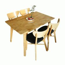 Bộ bàn ăn 4 ghế Milano màu tự nhiên - Cozino