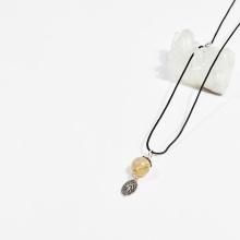 Dây chuyền phong thủy đá thạch anh tóc vàng 1.5cm mệnh thủy, kim - Ngọc Quý Gemstones