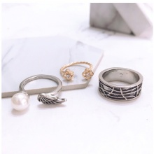 Set 3 nhẫn midi ring angela - Tatiana - NH2343