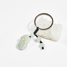 Móc khóa phong thủy đá cẩm thạch phỉ thúy tỳ hưu 2.5cm mệnh hỏa, mộc - Ngọc Quý Gemstones