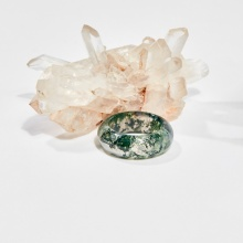 Nhẫn đá băng ngọc thủy tảo (ni16 - ni18) mệnh hỏa, mộc, thổ - Ngọc Quý Gemstones