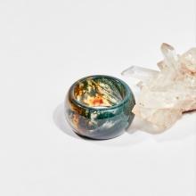 Nhẫn nam đá băng ngọc thủy tảo huyết (ni21-ni23) mệnh hỏa, mộc, thổ - Ngọc Quý Gemstones