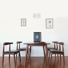 Bộ bàn ăn 6 ghế mặt nệm Bull màu walnut - Cozino