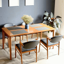 Bộ bàn ăn  4 ghế Kai gỗ cao su 1m4 - Cozino