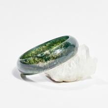 Vòng tay phong thủy đá băng ngọc thủy tảo 5.1cm mệnh hỏa, mộc, thổ - Ngọc Quý Gemstones