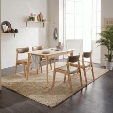 Bộ bàn ăn 4 ghế Bella gỗ cao su 1m2 - Cozino