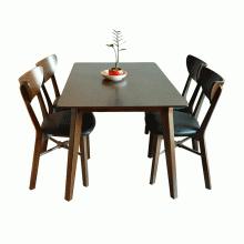 Bộ bàn ăn 4 ghế Milano màu walnut - Cozino