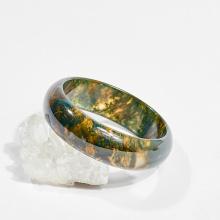 Vòng tay phong thủy đá băng ngọc thủy tảo huyết 5.2cm mệnh hỏa, mộc, thổ - Ngọc Quý Gemstones