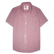 Áo sơ mi nam ngắn tay thêu logo sắc xảo, 65% cotton - sn01