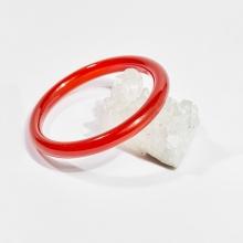 Vòng tay phong thủy đá mã não đỏ bản tròn mệnh hỏa, thổ - Ngọc Quý Gemstones