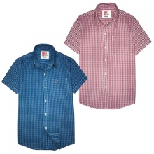 Áo sơ mi nam ngắn tay thêu logo sắc xảo, 65% cotton - combo 2 áo - SNCB201